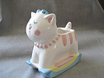 Click here to enlarge image and see more about item 2810: Lefton Kitty Planter