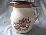 Pig Motif Brown Glazed Milk Pitcher