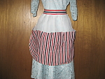 Red, Black, White Striped Apron