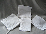 Four Linen Handkerchiefs
