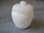 Milk Glass Lidded Cream Jar