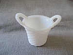 Click to view larger image of Milkglass Nut Cup Basket (Image1)