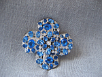 Click to view larger image of Blue Rhinestone Brooch (Image1)