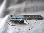 Vintage Eye Glasses in Metal Case