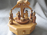 Wooden Manger Music Box