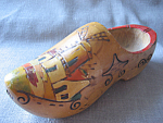 Hand Carved Wooden Shoe