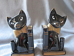 Click to view larger image of Black Cat Book Ends (Image1)