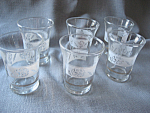 Six Anchor Hocking Juice Glasses