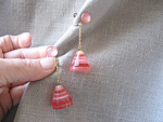 Pink Plastic Earrings from Japan