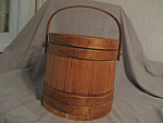 Click here to enlarge image and see more about item 3350: Vintage Firkin or Sugar Bucket