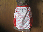 Home Made Red and White Apron