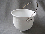 Click to view larger image of Milk Glass Caldron (Image1)