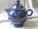 Click here to enlarge image and see more about item 3442: Colbalt Blue Fiesta Tea Pot
