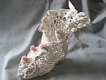 Victorian Boot Made Out of a Doily