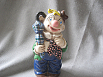 Click here to enlarge image and see more about item 3520: Hand Made Clown Bank