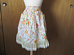 Orange and Yellow Flowered Apron