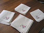 Ten Embroidered Napkins
