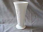 Milk Glass Grape Panel Vase