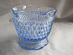 Diamond Point Blue Glass Dish