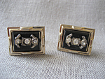 Faux Onyx Cuff Links