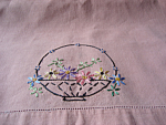 Embroidered Basker TAble Scarf