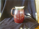 Hull Mirror Brown Milk Pitcher