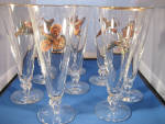 Click here to enlarge image and see more about item 4381: Pilsner Flying Bird Glasses