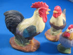 Click to view larger image of Enesco Rooster and Chicken Figurines (Image3)