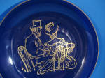 Click to view larger image of Colbalt Blue Victorian Couple Bowl (Image2)