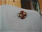 Topaz  Color Rhinestone Brooch