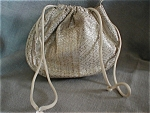 Silver and Gold Drawstring Purse