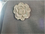 Click here to enlarge image and see more about item 664: Lucite Flower Brooch