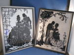 Click here to enlarge image and see more about item 6882: Reverse Painted Silhouette Pictures