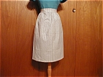 Homemade Blue Flowered Apron