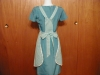 Click to view larger image of Full Front Bluegreen Checkered Apron (Image2)