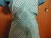 Click to view larger image of Full Front Bluegreen Checkered Apron (Image3)