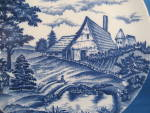 Click to view larger image of Blue Plate With Farm Scene (Image2)