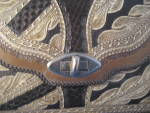 Click to view larger image of Large Hand Tooled Leather Purse (Image2)