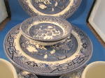 Click to view larger image of Two Table Sets of Blue Willow Dishes (Image3)