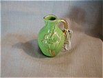 Green Handle Vase With Flower