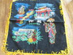Click here to enlarge image and see more about item 8828: WWII Velvet Okinawa Pillow Cover