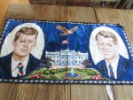 Click here to enlarge image and see more about item 8971AC: J F Kennedy and Robert Kennedy Tapestry