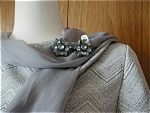 Click here to enlarge image and see more about item 902: Gray/Blue Earrings