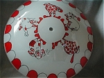 Click here to enlarge image and see more about item 906: 1950 Clown Glass Light Shade