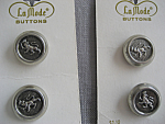 Four Silver Buttons From France