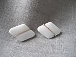 West Germany White Plastic Earrings