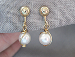 Sarah Conventry Faux Pearl Earrings