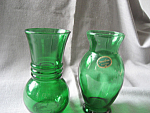 Anchorglass Forest Green Vases