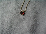 Avon Faux Ruby Necklace