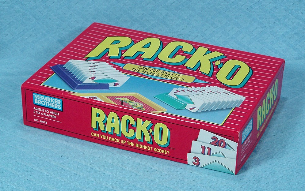 Racko Card Game Parker Brothers 1992 Vintage Games Pre 1995 At